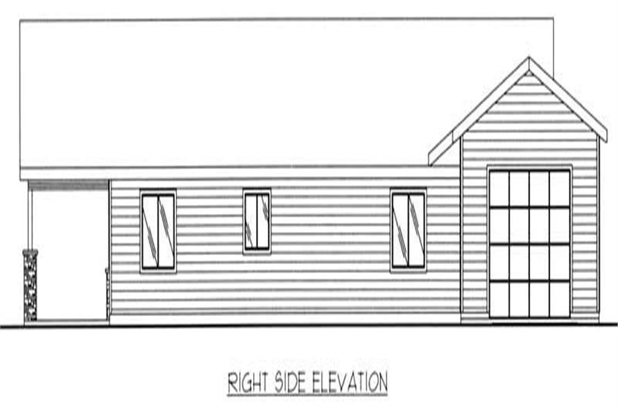 Home Plan Right Elevation of this 2-Bedroom,1584 Sq Ft Plan -132-1205