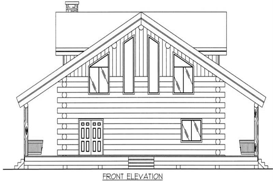Home Plan Front Elevation of this 1-Bedroom,2986 Sq Ft Plan -132-1206