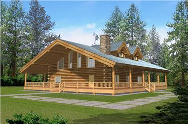 1-Bedroom, 2986 Sq Ft Country House Plan - 132-1206 - Front Exterior