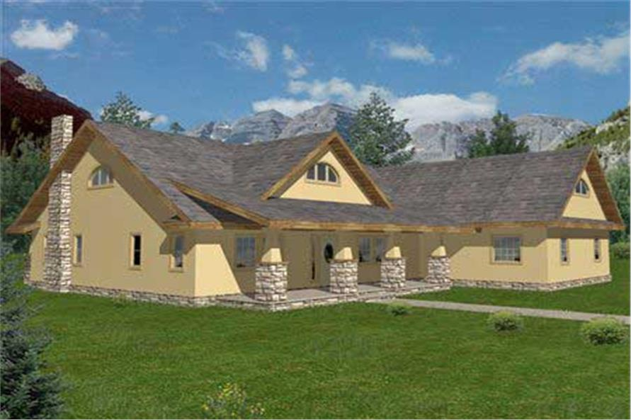 Home Plan 3D Image of this 2-Bedroom,2427 Sq Ft Plan -2427