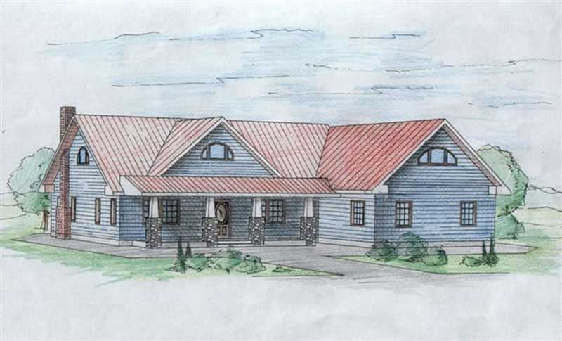 Craftsman, Concrete Block/ ICF Design House Plans