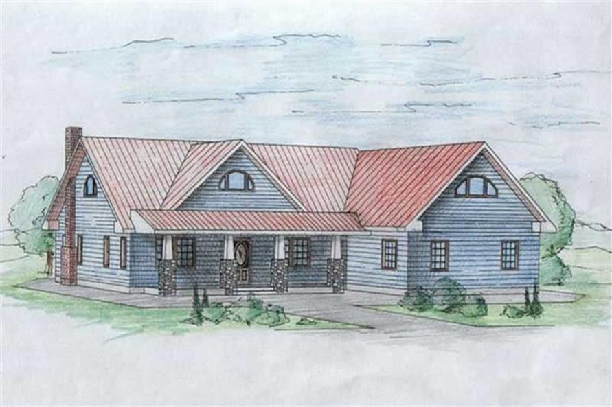 2-Bedroom, 2427 Sq Ft Concrete Block/ ICF Design House Plan - 132-1208 - Front Exterior