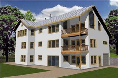 4-Bedroom, 3029 Sq Ft Concrete Block/ ICF Design Home Plan - 132-1209 - Main Exterior
