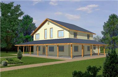 3-Bedroom, 2840 Sq Ft Ranch House Plan - 132-1210 - Front Exterior