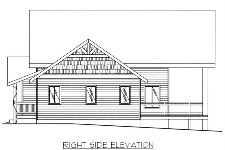 Home Plan Right Elevation of this 2-Bedroom,2214 Sq Ft Plan -132-1213