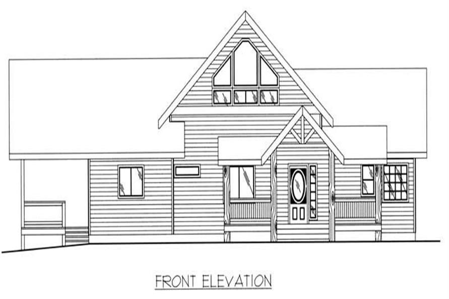 Home Plan Rear Elevation of this 2-Bedroom,2214 Sq Ft Plan -132-1213
