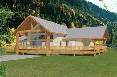 2-Bedroom, 2214 Sq Ft Craftsman Home Plan - 132-1213 - Main Exterior