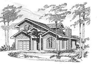 1-Bedroom, 1261 Sq Ft Small House Plans - 132-1214 - Main Exterior
