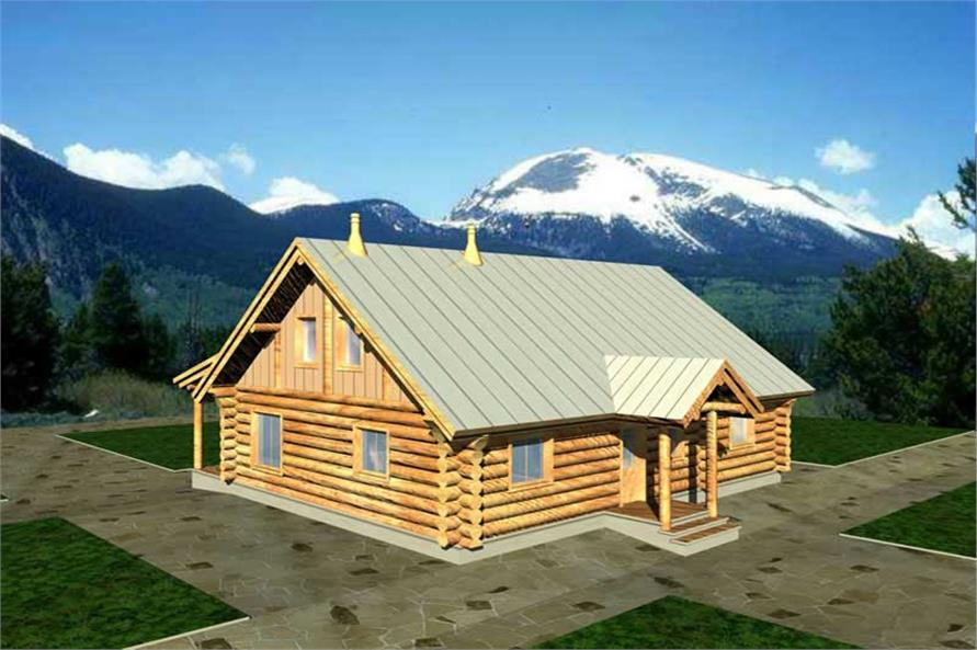 2-Bedroom, 1200 Sq Ft Bungalow Home Plan - 132-1216 - Main Exterior