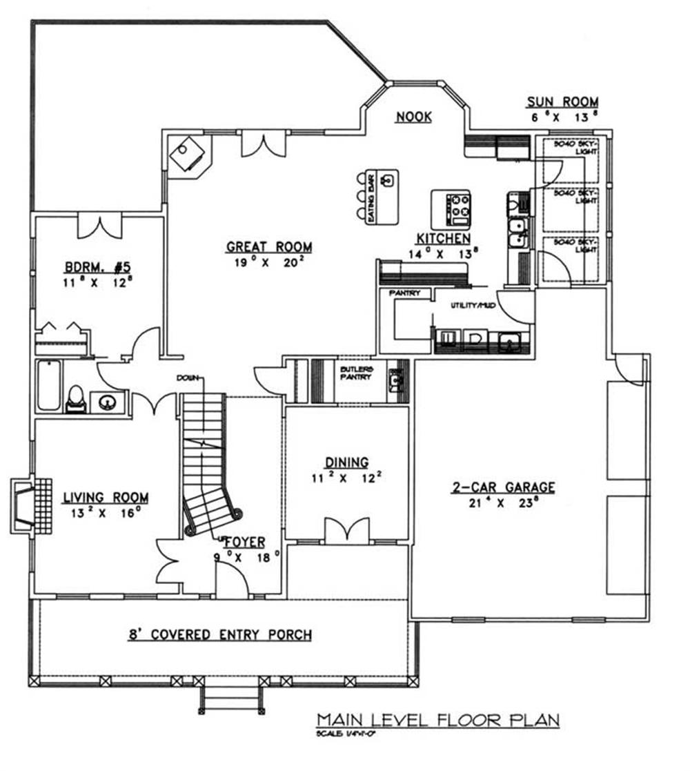 Large Images For House Plan 132 1218