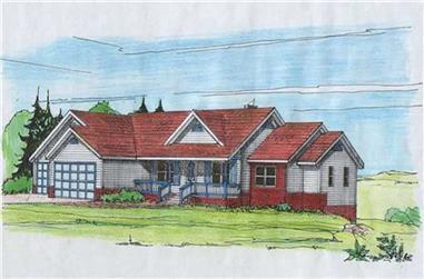 3-Bedroom, 2098 Sq Ft Concrete Block/ ICF Design House Plan - 132-1219 - Front Exterior