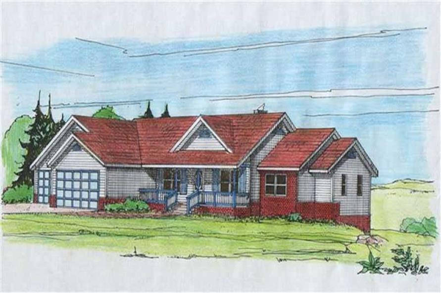 3-Bedroom, 2098 Sq Ft Concrete Block/ ICF Design House Plan - 132-1219 - Front Exterior