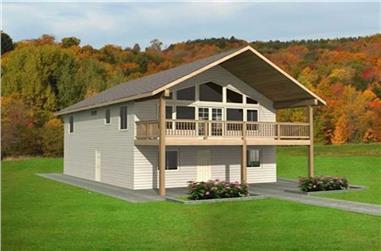 2-Bedroom, 1320 Sq Ft Home Plan - 132-1222 - Main Exterior