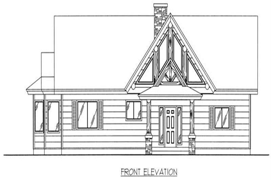 Home Plan Front Elevation of this 4-Bedroom,4386 Sq Ft Plan -132-1227