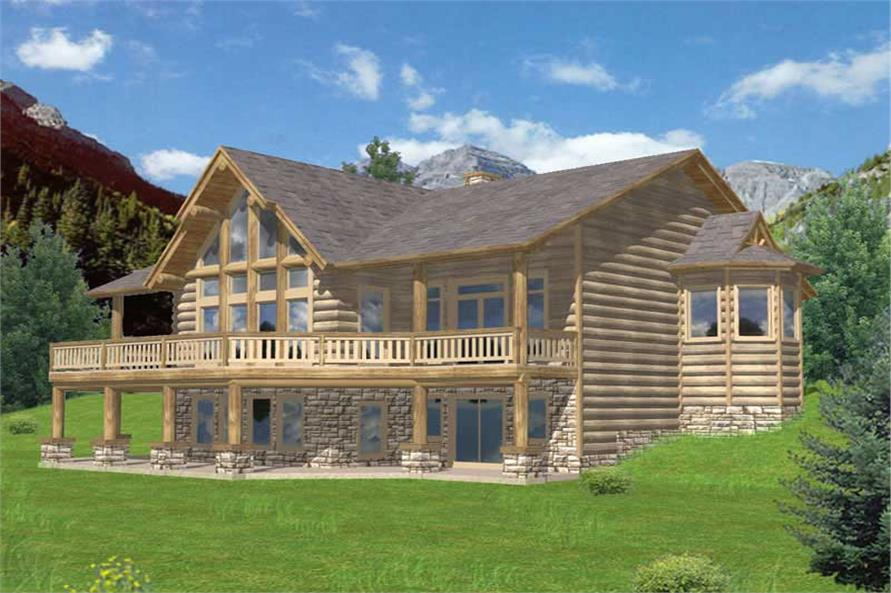 4-Bedroom, 4386 Sq Ft Country House Plan - 132-1227 - Front Exterior