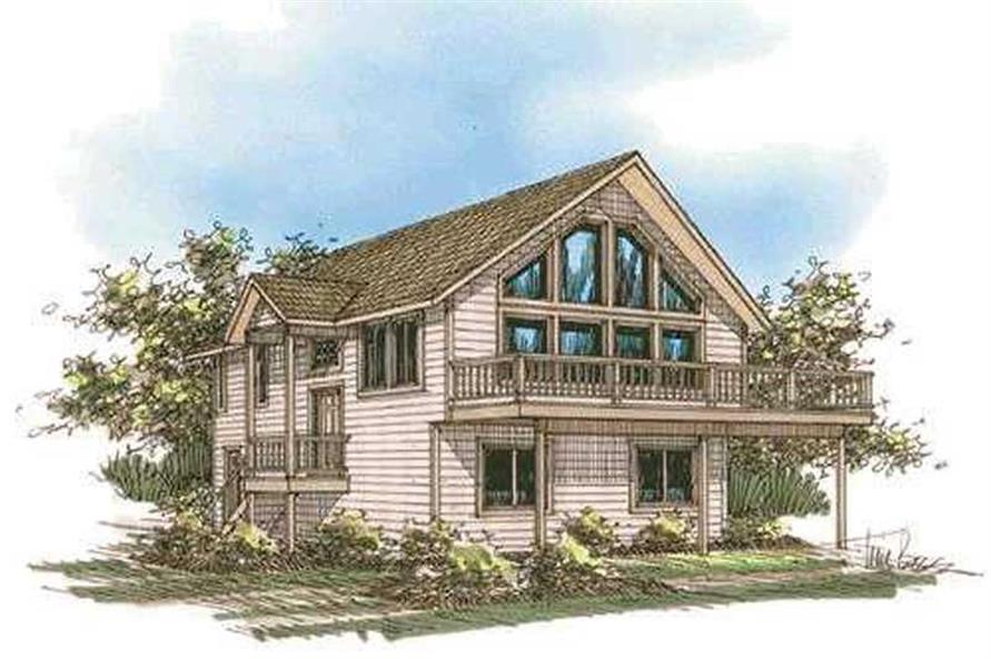 3-Bedroom, 1811 Sq Ft Contemporary House Plan - 132-1229 - Front Exterior