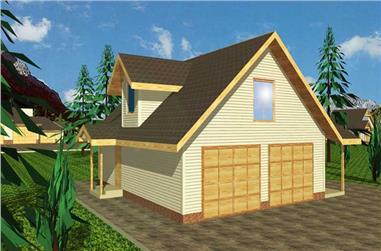 2-Bedroom, 951 Sq Ft Garage House Plan - 132-1235 - Front Exterior