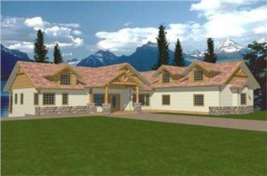 4-Bedroom, 2426 Sq Ft Concrete Block/ ICF Design Home Plan - 132-1237 - Main Exterior