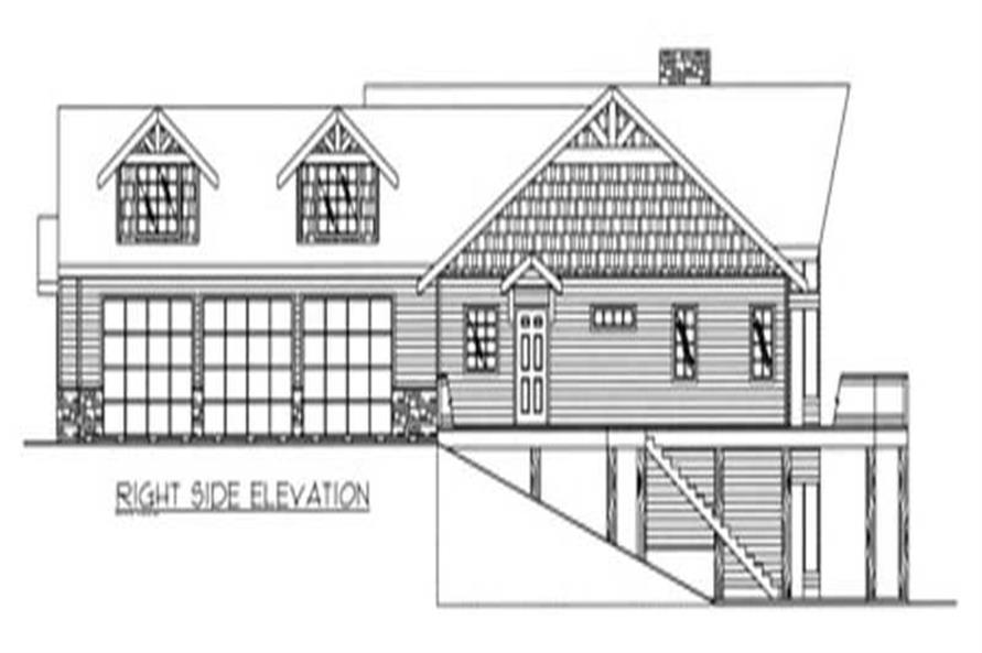 Home Plan Right Elevation of this 4-Bedroom,2426 Sq Ft Plan -132-1237
