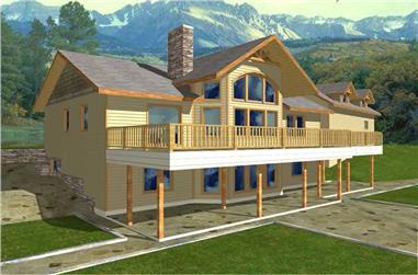 4-Bedroom, 1838 Sq Ft Concrete Block/ ICF Design Home Plan - 132-1239 - Main Exterior