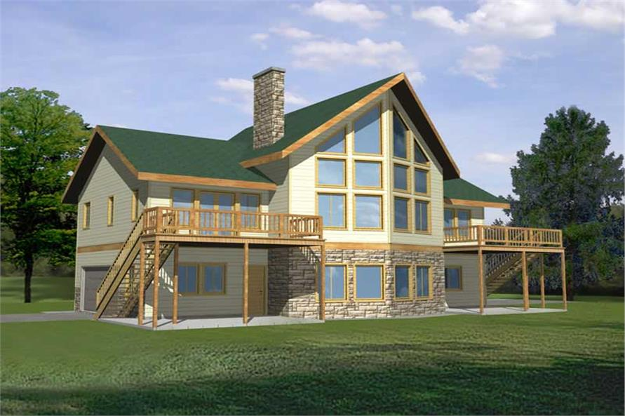 4-Bedroom, 3828 Sq Ft Concrete Block/ ICF Design Home Plan - 132-1240 - Main Exterior