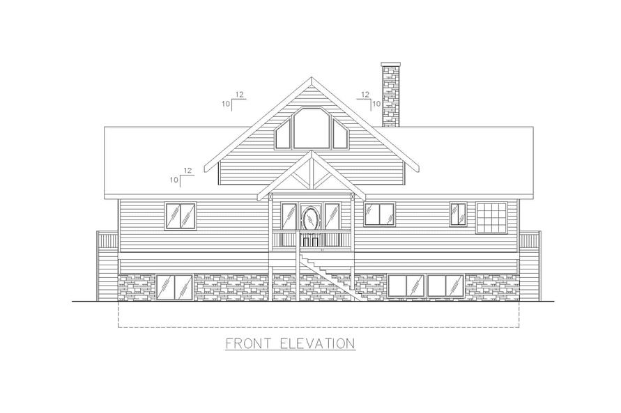 132-1240: Home Plan Front Elevation