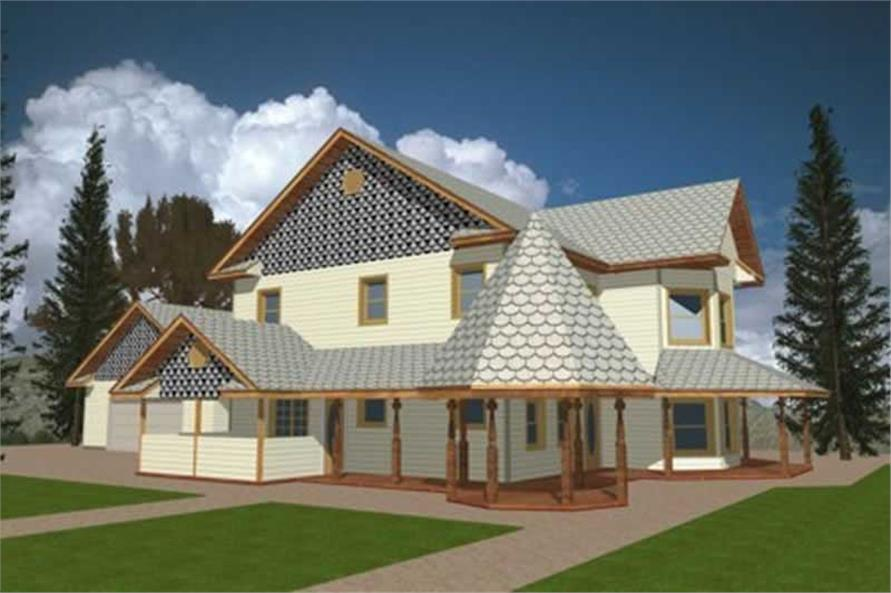 3-Bedroom, 2312 Sq Ft Concrete Block/ ICF Design Home Plan - 132-1241 - Main Exterior