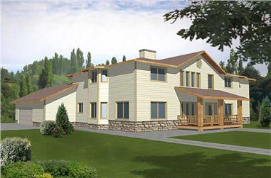4-Bedroom, 3815 Sq Ft Concrete Block/ ICF Design Home Plan - 132-1243 - Main Exterior