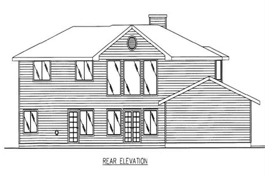 ELEVATION2 of this 4-Bedroom,3815 Sq Ft Plan -3815