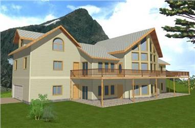 3-Bedroom, 2691 Sq Ft Concrete Block/ ICF Design Home Plan - 132-1244 - Main Exterior