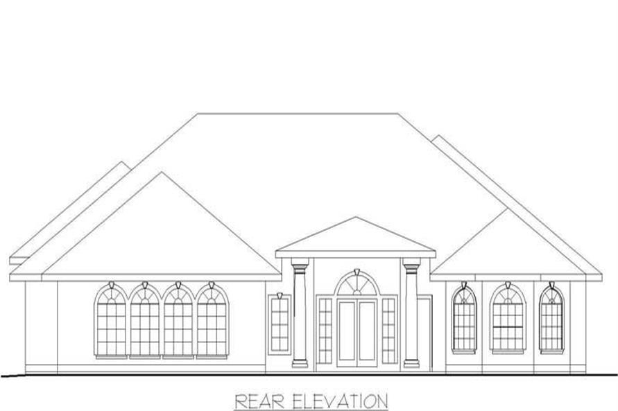 Home Plan Rendering of this 3-Bedroom,3202 Sq Ft Plan -132-1246