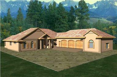 3-Bedroom, 3202 Sq Ft Concrete Block/ ICF Design Home Plan - 132-1246 - Main Exterior