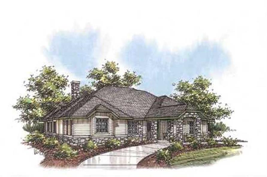2-Bedroom, 3109 Sq Ft Concrete Block/ ICF Design House Plan - 132-1251 - Front Exterior