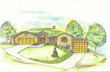 2-Bedroom, 3302 Sq Ft Concrete Block/ ICF Design House Plan - 132-1252 - Front Exterior