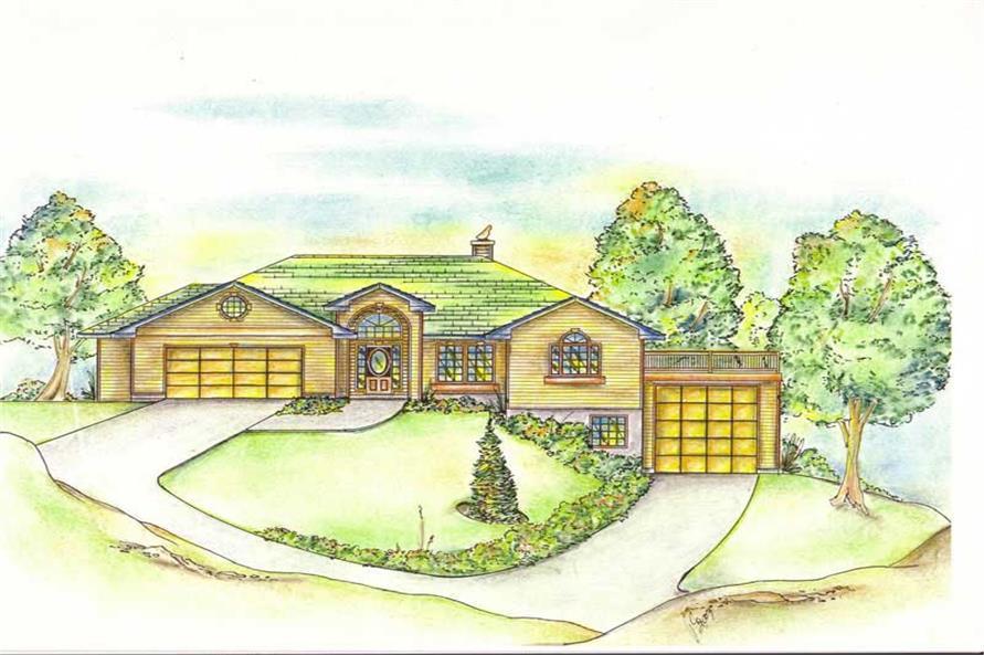 2-Bedroom, 3302 Sq Ft Concrete Block/ ICF Design House Plan - 132-1252 - Front Exterior