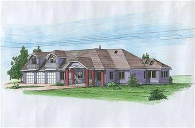 3-Bedroom, 2359 Sq Ft Concrete Block/ ICF Design Home Plan - 132-1255 - Main Exterior