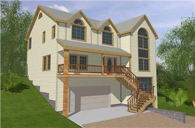 4-Bedroom, 2592 Sq Ft Concrete Block/ ICF Design House Plan - 132-1256 - Front Exterior