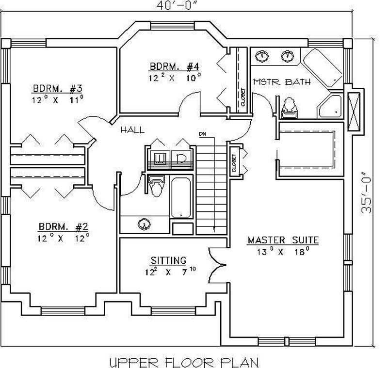 Concrete Block Icf Design Home Plan 4 Bedrms 3 Baths