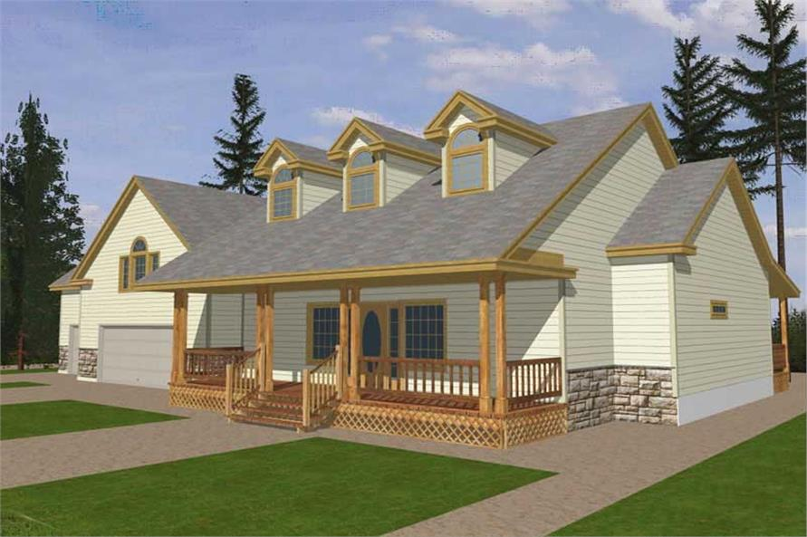 4-Bedroom, 2022 Sq Ft Concrete Block/ ICF Design House Plan - 132-1257 - Front Exterior