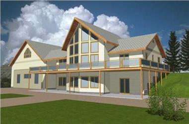 3-Bedroom, 2215 Sq Ft Concrete Block/ ICF Design Home Plan - 132-1258 - Main Exterior