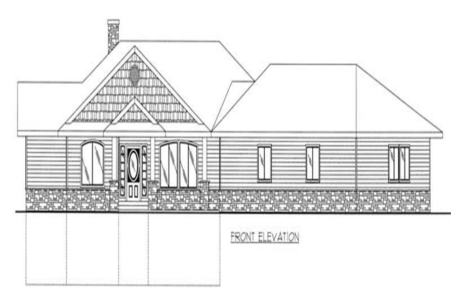Home Plan Front Elevation of this 3-Bedroom,2396 Sq Ft Plan -132-1260