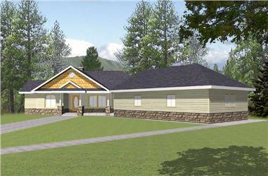 3-Bedroom, 2396 Sq Ft Concrete Block/ ICF Design Home Plan - 132-1260 - Main Exterior