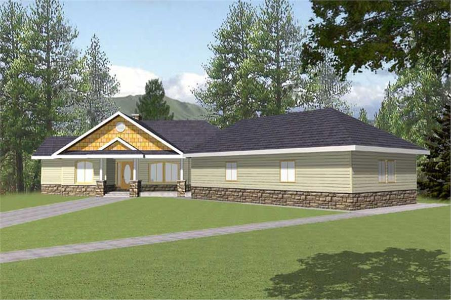3-Bedroom, 2396 Sq Ft Concrete Block/ ICF Design Home Plan - 132-1260 - Main Exterior