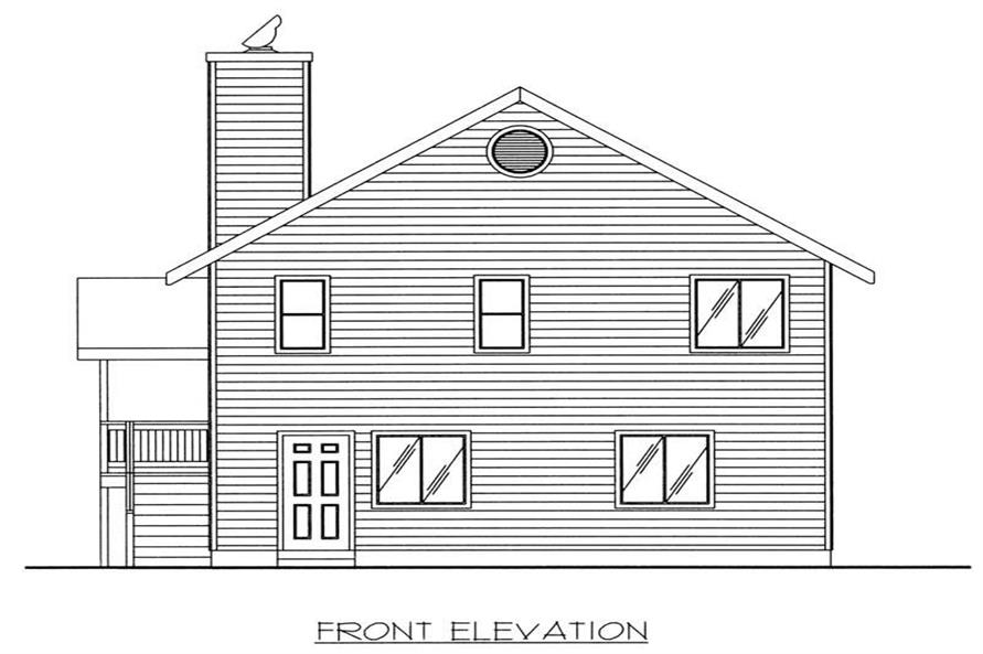 Home Plan Front Elevation of this 3-Bedroom,1811 Sq Ft Plan -132-1261