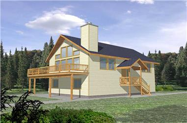 3-Bedroom, 1811 Sq Ft Vacation Homes House Plan - 132-1261 - Front Exterior