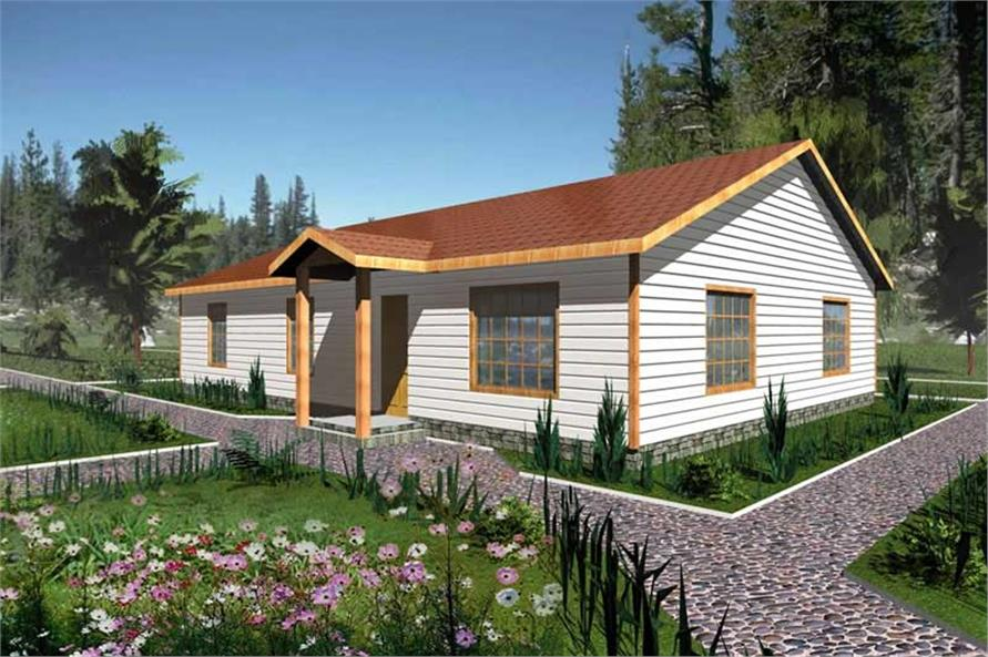 3-Bedroom, 1408 Sq Ft Ranch House Plan - 132-1262 - Front Exterior