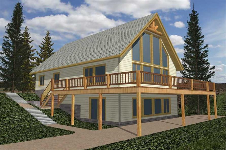 3-Bedroom, 4186 Sq Ft Concrete Block/ ICF Design Home Plan - 132-1264 - Main Exterior