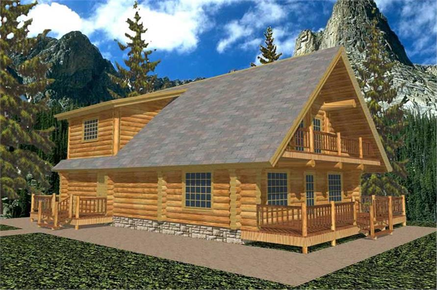 Main image for log home plans # 9201