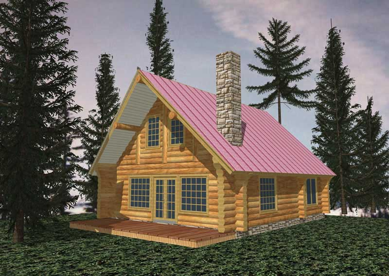 Log Cabin Plans Home Design Ghd 1028 9249