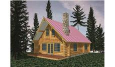 Log Homeplans Front Elevation.